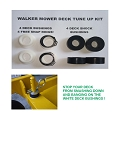 Complete Walker Mower Deck Tune Up Kit - Our Exclusive Item! FREE SHIPPING